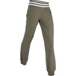Spodnie sportowe, długie, Level 1 bonprix ciemnooliwkowy. Spodnie dresowe damskie marki bonprix. Za 37.99 zł.