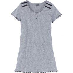 Koszula nocna bonprix szary melanż - czarny. Czarne koszule nocne damskie bonprix, melanż. Za 34.99 zł.