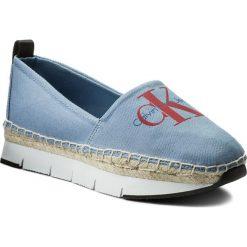 Espadryle CALVIN KLEIN JEANS - Genna R8950 Light Blue. Niebieskie espadryle damskie Calvin Klein Jeans, z jeansu. W wyprzedaży za 299.00 zł.