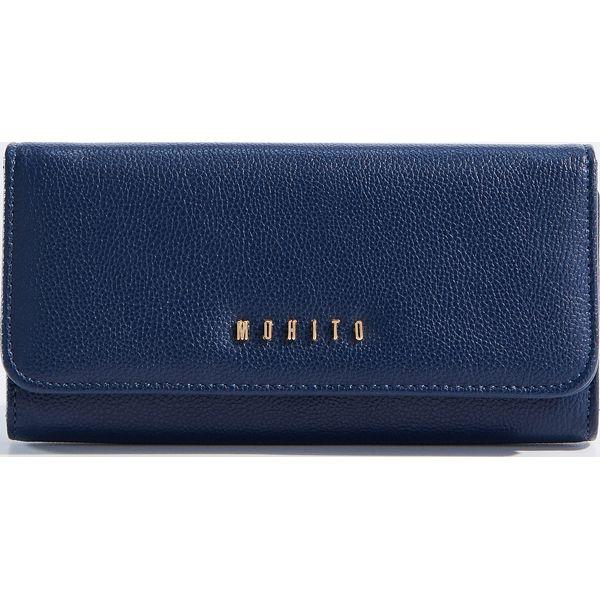 a37fed3657897 Minimalistyczny portfel - Granatowy - Portfele damskie marki Mohito ...