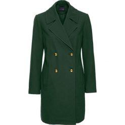 Płaszcz przejściowy bonprix głęboki zielony. Płaszcze damskie marki FOUGANZA. Za 74.99 zł.