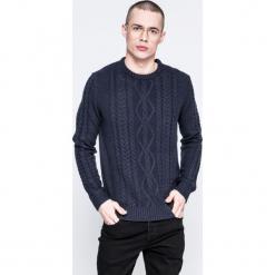 Jack & Jones - Sweter. Szare swetry przez głowę męskie Jack & Jones, z dzianiny, z okrągłym kołnierzem. W wyprzedaży za 79.90 zł.