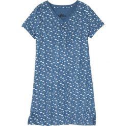 Koszula nocna bonprix niebieski dżins z nadrukiem. Niebieskie koszule nocne damskie bonprix, z nadrukiem. Za 29.99 zł.