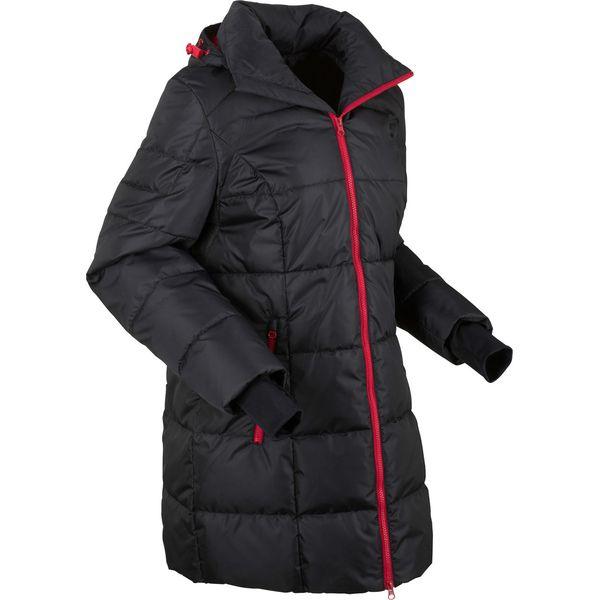 długa kurtka pikowana ciemnooliwkowy