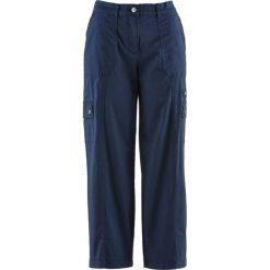 """Spodnie 7/8 """"papertouch"""", szerokie nogawki bonprix ciemnoniebieski. Spodnie materiałowe damskie marki DOMYOS. Za 89.99 zł."""