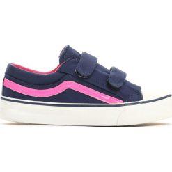 Granatowe Trampki Pretty Style. Niebieskie buty sportowe dziewczęce Born2be, z materiału. Za 49.99 zł.