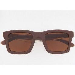 Okulary przeciwsłoneczne ReDesign - Brązowy. Brązowe okulary przeciwsłoneczne męskie Reserved. Za 49.99 zł.