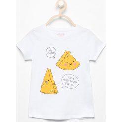 T-shirt z wesołym nadrukiem - Biały. T-shirty damskie marki bonprix. W wyprzedaży za 9.99 zł.