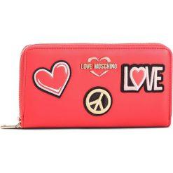 Duży Portfel Damski LOVE MOSCHINO - JC5604PP17LJ0500  Rosso. Czerwone portfele damskie Love Moschino, ze skóry ekologicznej. Za 429.00 zł.