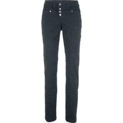 """Spodnie z bawełny ze stretchem """"Crash"""" bonprix czarny. Spodnie materiałowe damskie marki DOMYOS. Za 99.99 zł."""