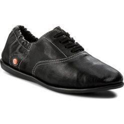 Półbuty SOFTINOS - Versof P900362000 Black. Czarne półbuty damskie Softinos, z materiału. W wyprzedaży za 239.00 zł.