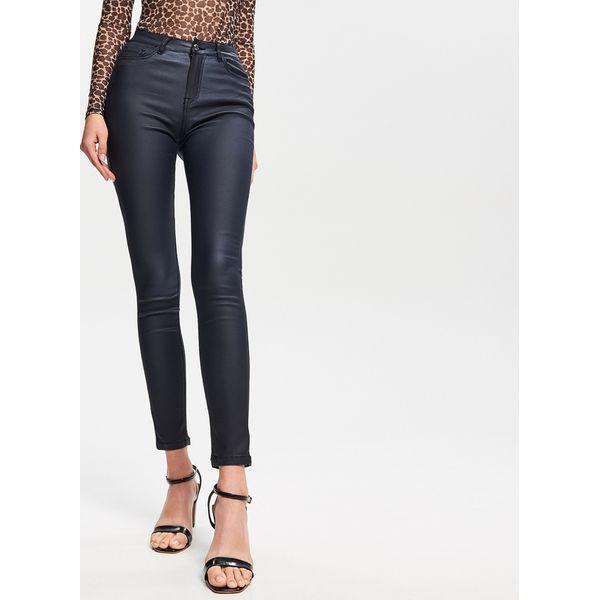 26fe46a22a971e Woskowane spodnie - Granatowy - Spodnie materiałowe damskie Reserved ...