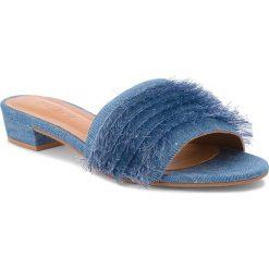 Klapki KAZAR - Miley 32284-TK-10 Granatowy. Niebieskie klapki damskie Kazar, z jeansu. W wyprzedaży za 289.00 zł.