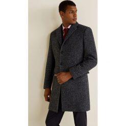 Mango Man - Płaszcz Utahant. Czarne płaszcze męskie Mango Man, z materiału, klasyczne. Za 549.90 zł.