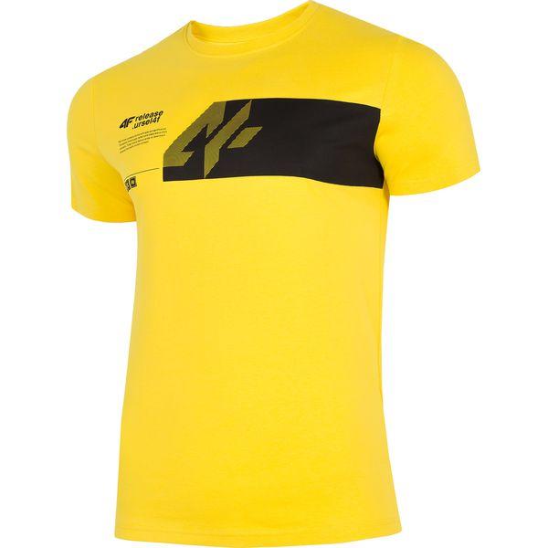 6ccf1e67f T-shirt męski TSM202 - żółty - T-shirty męskie marki 4f. Za 29.99 zł ...