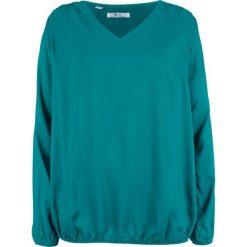 Bluzka z długim rękawem bonprix kobaltowo-turkusowy. Niebieskie bluzki damskie bonprix, z długim rękawem. Za 74.99 zł.