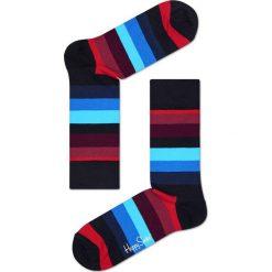 Happy Socks - Skarpety Stripe. Niebieskie skarpety męskie Happy Socks, z bawełny. W wyprzedaży za 27.90 zł.