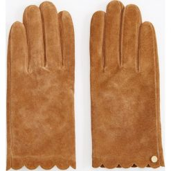 Skórzane rękawiczki - Żółty. Żółte rękawiczki damskie Reserved. Za 79.99 zł.