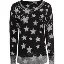 Sweter z asymetryczną linią dołu bonprix czarno - jasnoszary wzorzysty. Swetry damskie marki KALENJI. Za 109.99 zł.