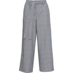 Spodnie w kratę glencheck z czerwonymi paskami bonprix czarno-biały w kratę. Spodnie materiałowe damskie marki DOMYOS. Za 79.99 zł.
