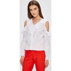 Miss Poem - Koszula. Białe koszule damskie Miss Poem, z bawełny, casualowe, z długim rękawem. W wyprzedaży za 59.90 zł.