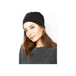 Czapka czarna/ organiczna bawełna. Czarne czapki i kapelusze damskie Siss, z bawełny. Za 65.00 zł.
