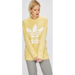 Adidas Originals - Bluza. Szare bluzy damskie adidas Originals, z nadrukiem, z bawełny. W wyprzedaży za 249.90 zł.