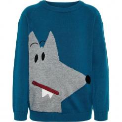 """Sweter """"Saks"""" w kolorze niebieskim. Swetry dla chłopców marki Reserved. W wyprzedaży za 49.95 zł."""