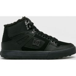DC - Buty. Czarne buty sportowe męskie DC, z materiału. W wyprzedaży za 379.90 zł.
