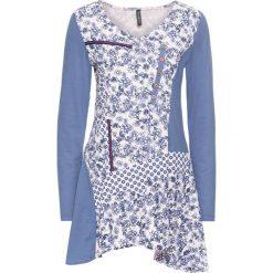 Tunika shirtowa bonprix niebieski dżins - pastelowy jasnoróżowy wzorzysty. Tuniki damskie marki bonprix. Za 59.99 zł.