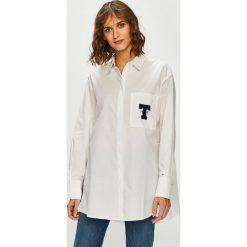 Tommy Jeans - Koszula. Szare koszule damskie Tommy Jeans, z bawełny, klasyczne, z klasycznym kołnierzykiem, z długim rękawem. Za 449.90 zł.