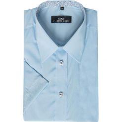 Koszula FABIO 15-01-22. Niebieskie koszule męskie Giacomo Conti, na lato, z materiału, z klasycznym kołnierzykiem, z krótkim rękawem. Za 199.00 zł.