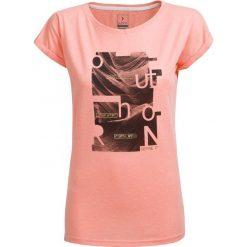 T-shirt damski TSD607 - pudrowy koral melanż - Outhorn. Różowe t-shirty damskie Outhorn, melanż, z materiału. W wyprzedaży za 24.99 zł.