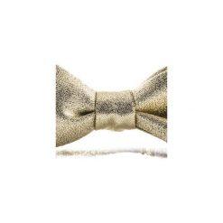 Mucha wiązana GOLD. Żółte krawaty i muchy Hisoutfit, z materiału, wizytowe. Za 89.00 zł.