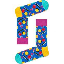 Happy Socks - Skarpetki Nineties. Różowe skarpety damskie Happy Socks, z bawełny. W wyprzedaży za 29.90 zł.
