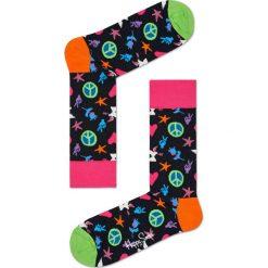 Happy Socks - Skarpety Peace And Love. Czarne skarpety męskie Happy Socks. W wyprzedaży za 27.90 zł.
