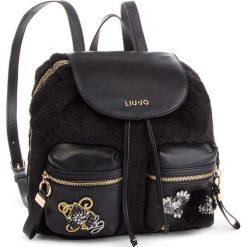 Plecak LIU JO - M Backpack Brentas N68062 E0412 Nero 22222. Czarne plecaki damskie Liu Jo, z materiału, eleganckie. W wyprzedaży za 419.00 zł.