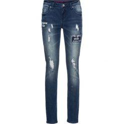 """Dżinsy SKINNY bonprix niebieski """"stone"""". Niebieskie jeansy damskie bonprix. Za 129.99 zł."""