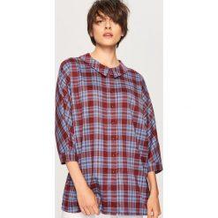 Koszula w kratę - Wielobarwn. Szare koszule damskie Reserved. W wyprzedaży za 79.99 zł.