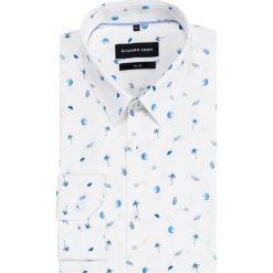 Koszula SIMONE slim KDWS000464. Szare koszule męskie Giacomo Conti, z bawełny, z klasycznym kołnierzykiem, z długim rękawem. Za 299.00 zł.