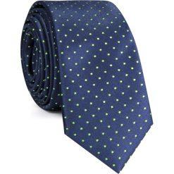 KRAWAT KWGS001548. Zielone krawaty i muchy Giacomo Conti, w kropki, z mikrofibry. Za 69.00 zł.