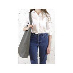 Mega Shopper bag szara torba oversize Vegan. Szare torebki shopper damskie Hairoo, w paski. Za 185.00 zł.