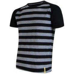 Sensor Koszulka Termoaktywna Merino Wool Active M Paski Black S. Czarne koszulki sportowe męskie Sensor, z materiału, z krótkim rękawem. Za 195.00 zł.