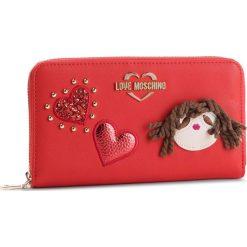 Duży Portfel Damski LOVE MOSCHINO - JC5600PP17LF0500 Rosso. Czerwone portfele damskie Love Moschino, ze skóry ekologicznej. Za 429.00 zł.