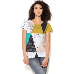 Colour Pleasure Koszulka CP-034 22 czarno-biało-miętowa r. XL/XXL. Bluzki damskie Colour Pleasure. Za 70.35 zł.