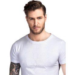 T-shirt ADAMO TSBS000040. Białe t-shirty męskie Giacomo Conti, z nadrukiem, z bawełny. Za 79.00 zł.