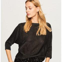 Sweter z brokatową nitką - Czarny. Czarne swetry damskie Reserved. Za 59.99 zł.