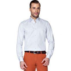 Koszula Popielata w Kratę Leppa. Szare koszule męskie LANCERTO, z bawełny. W wyprzedaży za 149.90 zł.