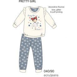 Piżama dziewczęca DR 040/90 Pretty girl Ecru r. 116. Szare bielizna dla dziewczynek Cornette. Za 53.43 zł.