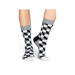Skarpetki Happy Socks - Filled Optic (FO01-901). Szare skarpety męskie Happy Socks, w kolorowe wzory, z bawełny. Za 34.90 zł.